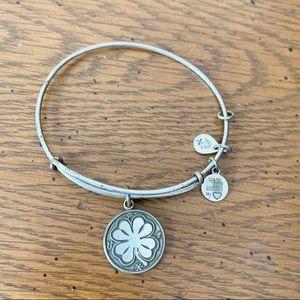 Alex and Ani Clover Bracelet - Silver